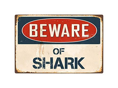 (Emivery Creative Iron Painting, Beware of Shark 8