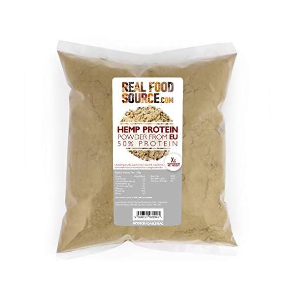 RealFoodSource Certified Organic EU Raw Hemp 50% Protein Powder Big Pack 5kg