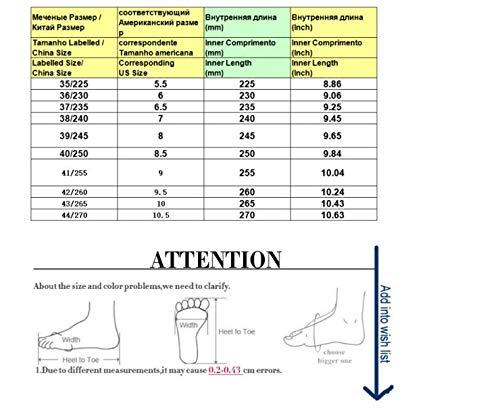 Mujer Casual Cristal Libre Redonda Antideslizante Plataforma De Zapatillas Rhinestone Punta Ysfu Aire Al Zapatos Femenina P8wEq46x