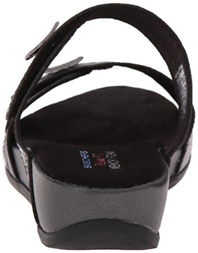 Sandal Donna Da Skechers In Peltro Slide Nero Springs Palm qzRnnXfTt