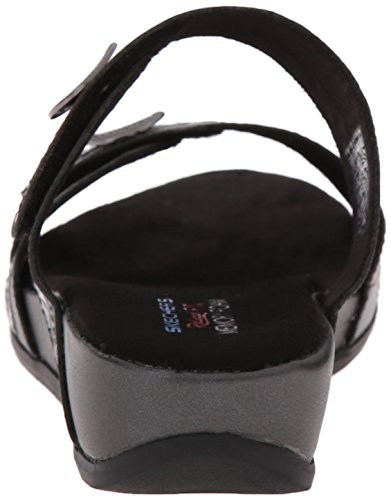 Skechers Palm Springs vestido de la sandalia Pewter/Black