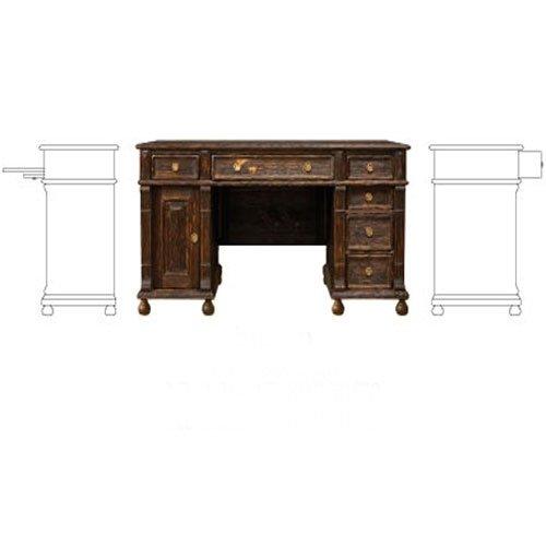 Schreibtisch 80 170 70 Echtholz Massiv Kiefer Landhaus Vintage