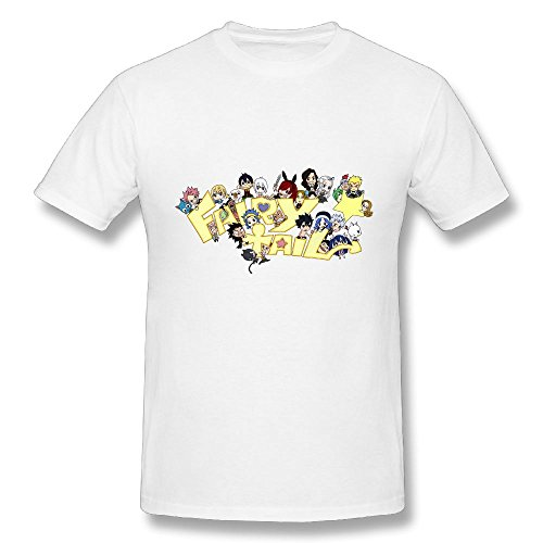TisEEaZs Mens Tshirts-Funny Fairy Tail Fans White 4XL