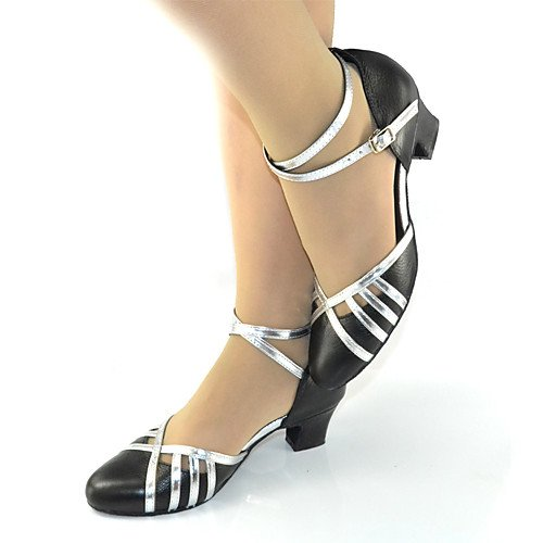 pelle Q T in Nero da T donna Heel Chunky ballo da Sneakers Scarpe Black moderne 8xdqw4B