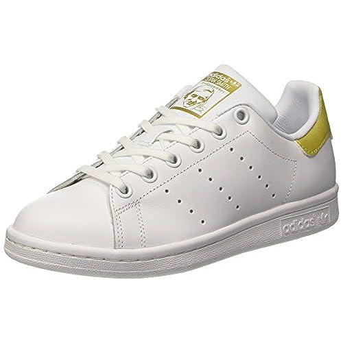 Adidas Stan Smith J, Zapatillas de Deporte Unisex Adulto, Blanco (Ftwbla/Ftwbla/Dormet 000), 38 2/3 EU