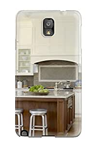 New Design Shatterproof FVvAtxF1174NLVQq Case For Galaxy Note 3 (white Kitchen With Coffered Ceiling Glass Front Cabinets Amp Large Island)