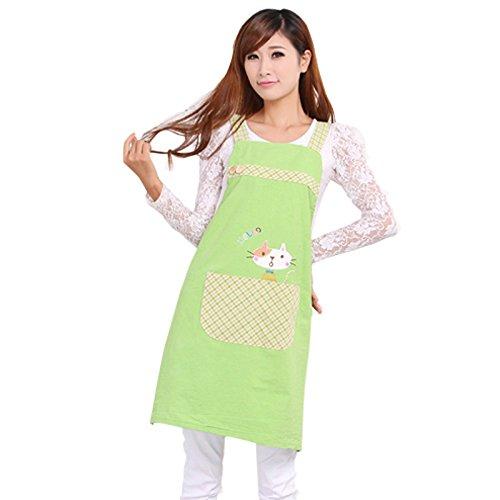 dfd8a1ee6d9 Amazon.com  Hot Sale Cute Cat fashion princess tea shop kindergarten apron  woman lady work wear cotton overall aprons logo  Kitchen   Dining