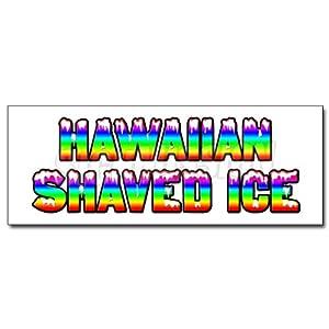 "24"" HAWAIIAN SHAVED ICE DECAL sticker hawaian cart stand icee icy"