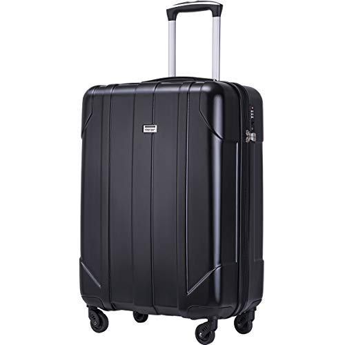 Merax Hardside Spinner Luggage with Built-in TSA Lock Lightweight Suitcase 20inch 24inch and 28 inch Available (Black…