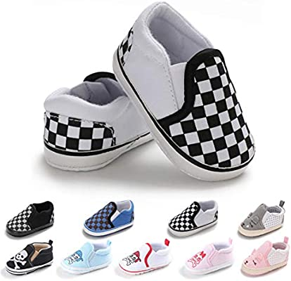 83e731f934142 BEBARFER Infant Baby Boys Girls Shoes Canvas Sneakers Slip On Soft ...