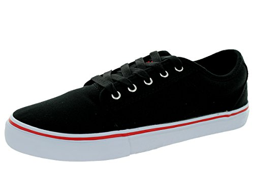 Adio Melbourne runde Kappe Canvas Sneakers Schwarz