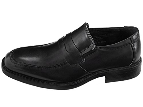 Alpine Swiss Mens Rhine Penny Loafers Suede Lined Slip On Shoes Black 7 M US