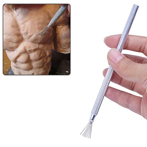 2pcs Feather Wire Texture Tool for Clay Sculpting Modeling 5.12 Pack of 2