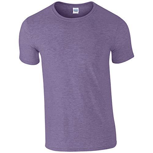 Large 100 Cotone style Gildan Soft heather Uomo Purple Maglietta 5qTxOwY