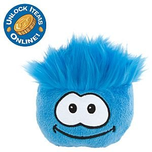 Amazon.com: Disney Club Penguin 4 Inch Plush Puffle Blue