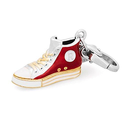 Rosato Pendentif chaussure Charm My Shoes type Converse avec vernis rouges et blancs SH022