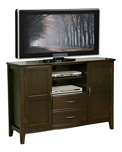 Simpli Home Williamsburg Tall TV Media Stand for TVs up to 60