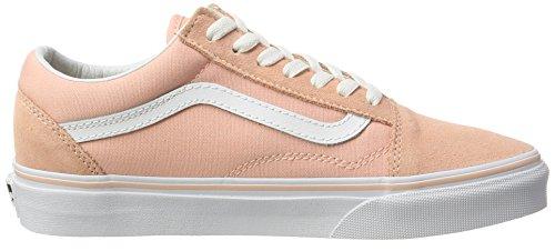Vans Ua Old Skool, Zapatillas para Mujer Rosa (Suede Canvas Tropical Peach/true White)