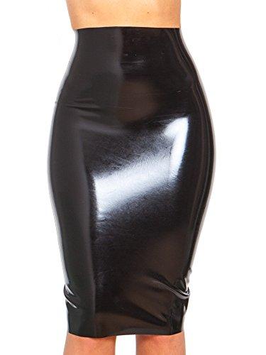 Raw Moulded Rubber Longue Jupe Fourreau en Caoutchouc Moul Noir