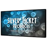 STT-169150-G Silver Ticket Thin Bezel 16:9 Aspect Ratio 4K Ultra HD Ready HDTV (6 Piece Fixed Frame) Projector Screen (16:9, 150, Grey Material)