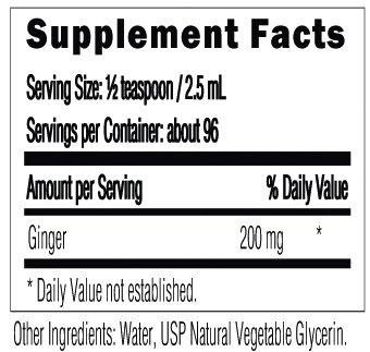8oz. Ginger Supports Circulation, the Liver, Colon, Digestion and More Alcohol-Free Liquid Extract