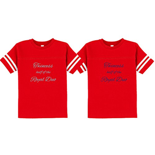 Price comparison product image Twincess Half of Royal Duo Toddler Football T-Shirt Tee Twin Set Red 3T