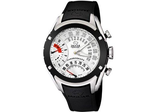 Jaguar correa de reloj J659/1 / J659/2 / J659/3 / J659/4 Caucho / plástico Negro 20mm(Sólo reloj correa - RELOJ NO INCLUIDO!): Amazon.es: Relojes