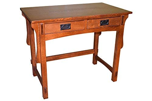 Amazon Com Mission Small Quarter Sawn Oak Desk With Two Drawers