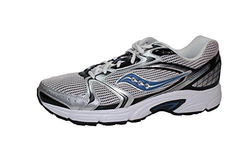 Saucony Mens Grid Oasis 2 Running Shoes Silver/Black/Royal Blue tWjrHE
