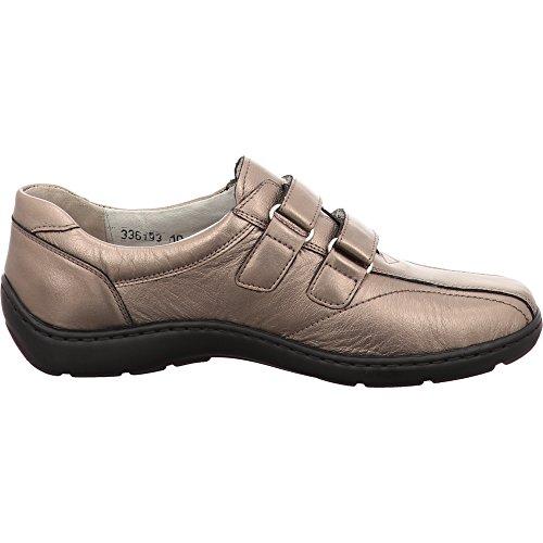 Henni Schuh metallizzato Runner Braun colore Foresta marrone in Metallic velcro BSnaI
