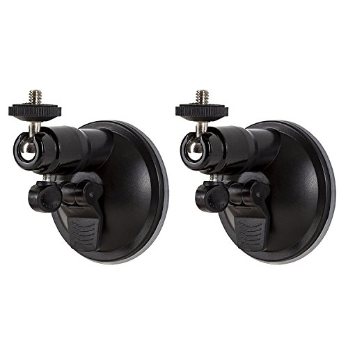 Mudder Smart Security Wall Mount Adjustable Indoor and Outdoor Suction Cup Mount for Arlo, Arlo Pro, Arlo Cam and Other Models (2 Pack, Black)