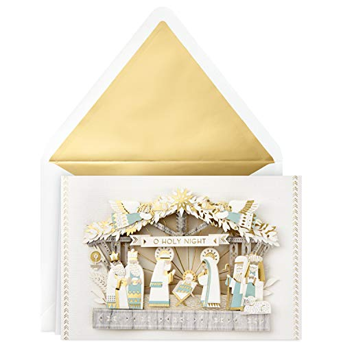 Card Scene Christmas Nativity (Hallmark Signature Religious Christmas Card (Nativity Scene))