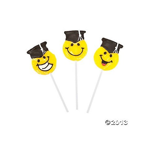 12 Smile Face Graduation suckers Lollipops (12 Smile Face)