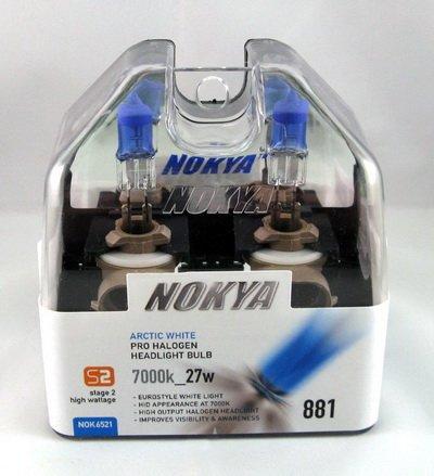- Nokya Arctic White 881 Car Headlight Bulb (S1) NOK6521 .