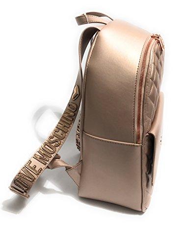 Moschino , Damen Rucksackhandtasche Rot Kupferfarben