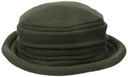 scala-womens-boiled-wool-cloche-olive-one-size