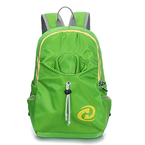 Top Shop Womens Canvas Smilies Expression Backpack Travel Daypack Tote School Shoulder Green Bags