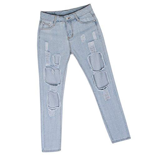 Denim Strappati Blu Leggings Pantaloni Baoblade Donne Di Chaio Jeans xqAwfcXZcS