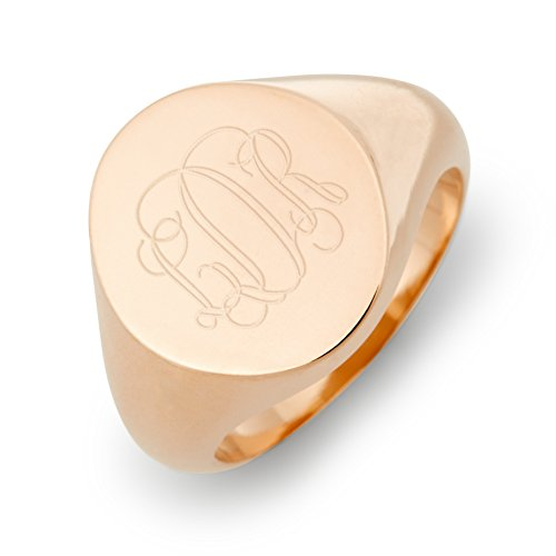 Initial Signet Ring - Brook & York Personalized Initial Signet Ring (Ring Sizes 6 to 8) - Custom Gift for Her