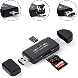 3-in-1 USB C Portable Card Reader, Micro USB to USB Type-C OTG Adapter and USB 2.0 Memory Card Reader for SDXC, SDHC, SD, MMC, RS-MMC, Micro SDXC, Micro SD, Micro SDHC Card and UHS-I Cards