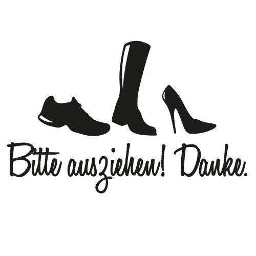 Bitte Schuhe Ausziehen wandkings wandtattoo schuhe bitte ausziehen 50 x 32 cm schwarz