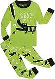 Boys Alligator Pajamas Sets 100% Cotton Pjs Toddler Kids Pj Long Sleeves Sleepwear Size 7