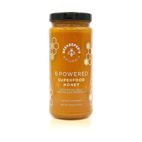 Bee Powered by Beekeeper's Naturals | Royal Jelly, Bee Pollen, Bee Propolis in Raw Unfiltered Honey for Natural Energy | Hive Superfood Complex for Immunity, Cognitive & Allergy Support (Best Medication For Laryngitis)