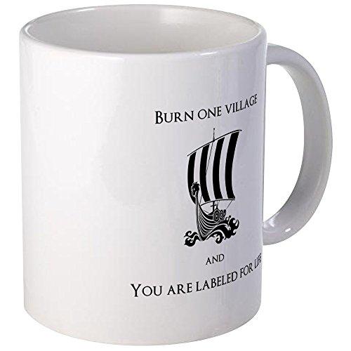 (CafePress Viking -Burn One Village Mugs Unique Coffee Mug, Coffee Cup)