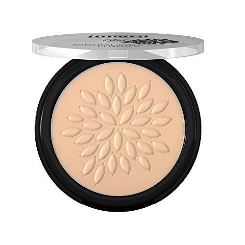 Lavera Natural Mineral Compact Bio Powder (Ivory #01), Fix Concealer and Foundation (For Those With Fair to Medium Skin Tones) 7g/0.23oz - Natural Origin Pressed Powder