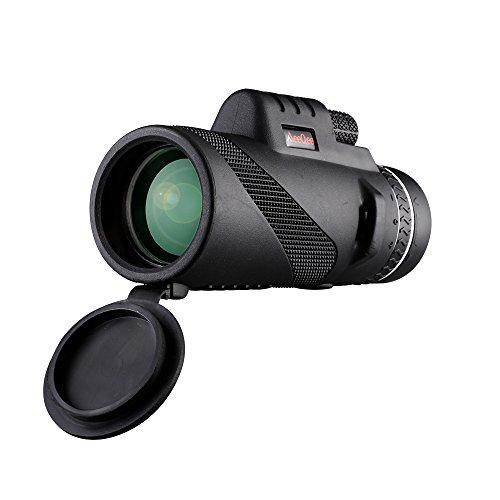 MeeQee 40X60 Dual Focus Monocular Telescope, Prism Film Optics, Tripod Capable, Waterproof, Low Night Vision, Monocular Scope for Birdwatching/ Hunting/ Camping/ Hiking / Golf/ Concert/ Surveillance