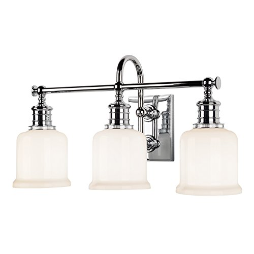 - Hudson Valley Lighting 1973-PC Three Light Bath Bracket from The Keswick Collection, 3, Polished Chrome