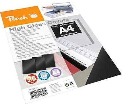 Peach PB100-17 A4 High Gloss Cover Sheets Black