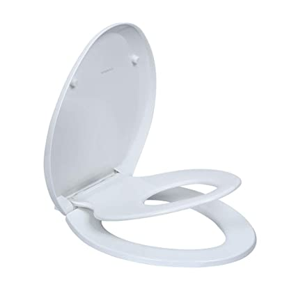 Elongated Toilet Seats With Built In Potty Training Seat Fits Both