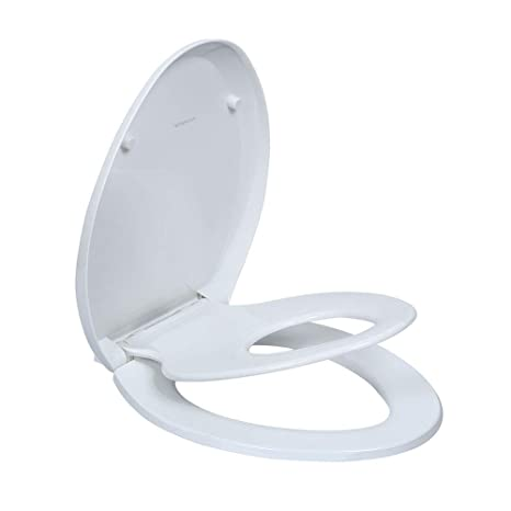 Astonishing Elongated Toilet Seats With Built In Potty Training Seat Magnetic Kids Seat And Cover Slow Close Fits Both Adult And Child Plastic White Evergreenethics Interior Chair Design Evergreenethicsorg